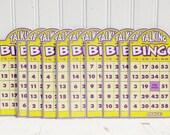 Vintage Bingo Cards Lot of 10, Scrapbook, Art Supply, Graphics, Vintage Game, Decor, Talking Bingo Cards