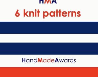 SIX HandMadeAwards KNIT PATTERNS- Pdf