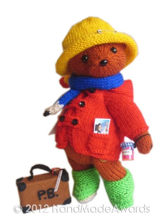 Knit Chunky Infinity Scarf Pattern : PADDINGTON Bear PDF Email Knit PATTERN
