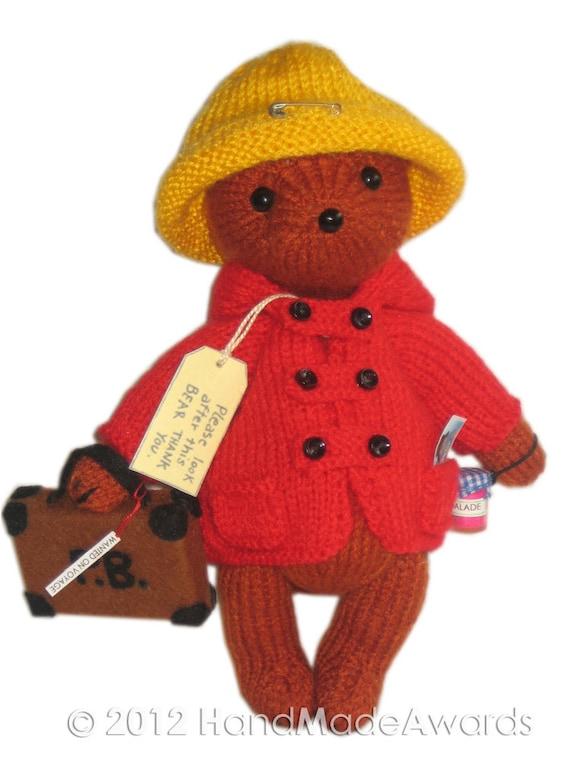PADDINGTON Bear PDF Email Knit PATTERN