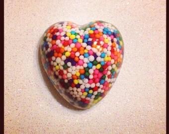 Sprinkle Heart Magnet