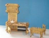 Eight Beautiful Rooms of Half Inch Miniature Furniture