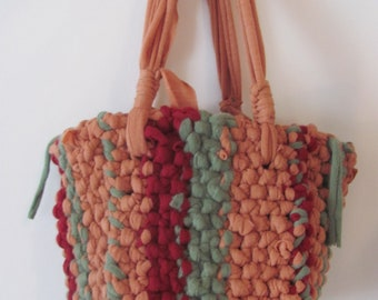 Hip Bag-----Up-CycledTricot------------Stripes.