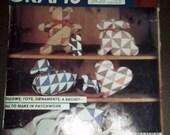 McCalls 703 Patchwork CRAFT Pattern vintage Bear, Duck, Heart, Pig, Rooster, Rocking Horse, Rabbit, Pillows Heart
