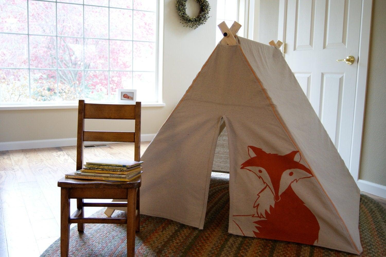 Fold Up Children 39 S A Frame Play Tent Fox
