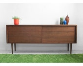 ON HOLD until July 31st - Vintage Walnut Credenza - Mid Century, Modern, Wood, Buffet, Cabinet, Dresser