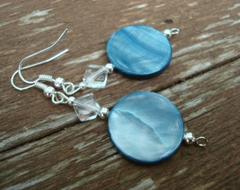Light Grey with a hint of blue earring set (E-115)