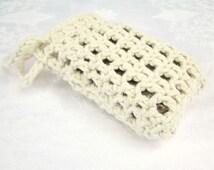 Crochet Soap Saver,  Cotton Soap Holder, crochet soap bag