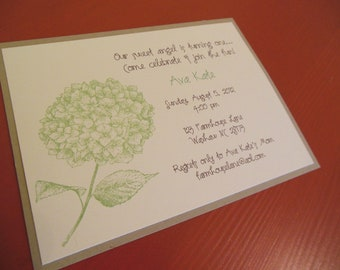 Flower Invitation - perfect for birthday, bridal shower, baby shower, weddings - set of 8