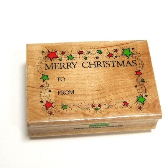 Christmas Gift Tag Stamp - DESTASH - Christmas Stamp - Christmas Packaging