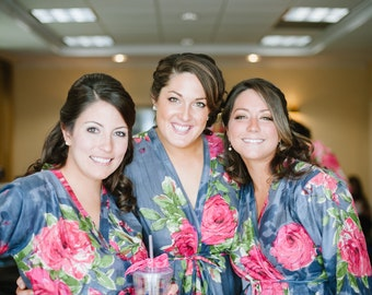 Bridesmaids robes Sets Kimono Crossover Robes Spa Wrap Perfect bridesmaids gift, getting ready robes, Bridal shower, wedding favors