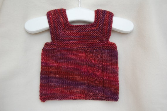 baby tank top sweater .mulberry. hand knit