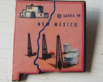 New Mexico Vintage Puzzle Pin