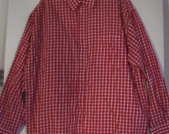Men's authentic country western wear shirt L XL XXL 52 54 cowboy gingham