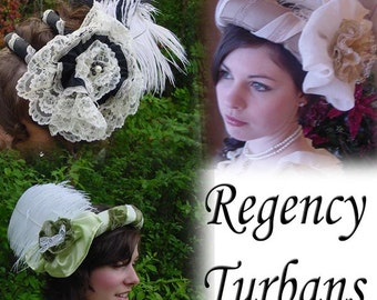 CUSTOM Regency Jane Austen Turban Ball hat headpiece