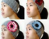 Ear Warmer with Interchangeable Flowers - PDF Crochet Pattern - Instant Download