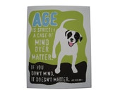 Dog Birthday Card Jack Benny Quote about Age Paper Goods Stationery
