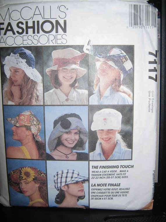 McCalls 7117  Misses  Hats pattern   10 Styles
