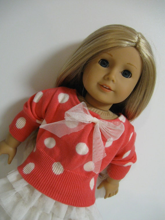 American Girl Doll -Back to School -Coral and Ivory