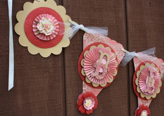 "Valentine Banner ""Be Mine"" Handmade"