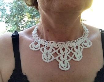 PDF Tutorial  Crochet Pattern... Lace Jewelry,  Necklace -3