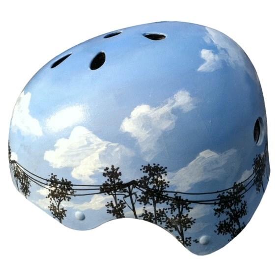 Blue Sky Hand Painted Helmet