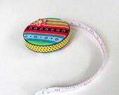 Mtlti Colored Stripe Fabric Tape Measure