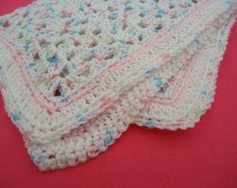 Baby Pink and Blue Little Cuddly Lovable Afghan