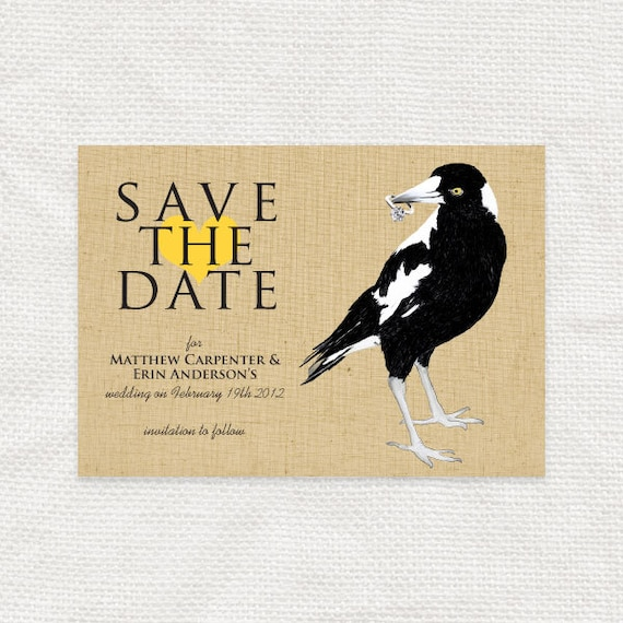 cheeky magpie save the date - printable file
