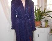 Vintage Men's 1940's Rayon Robe/Dressing Gown - Size L