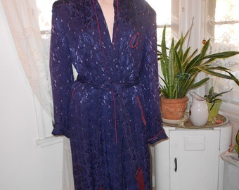 Vintage Men's 1940's Rayon Robe/Dressing Gown - Size L