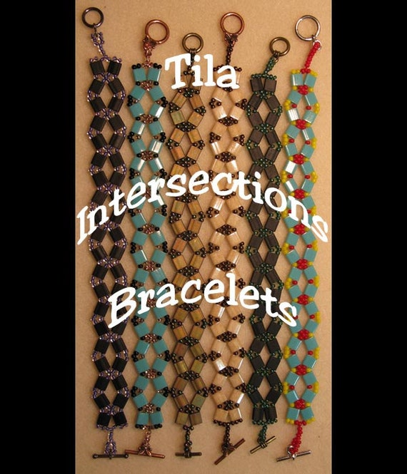Miyuki Tila Intersections Bracelet  Tutorial Instant Downloadable Pattern