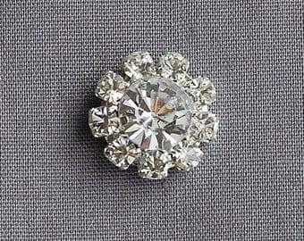 100 Rhinestone Buttons Crystal Hair Flower Comb Clip Wedding Invitation FREE SHIPPING US Napkin Ring BT053