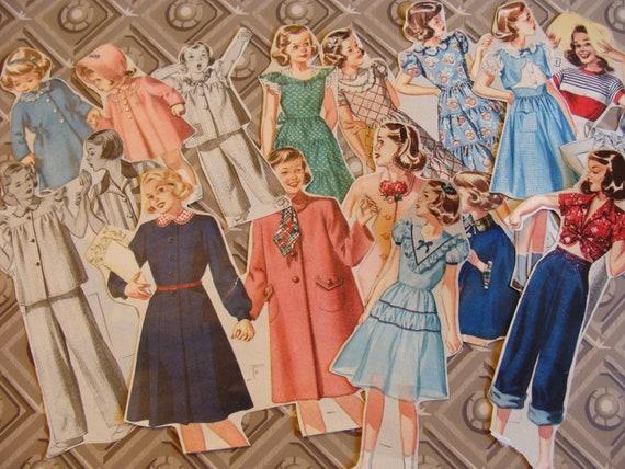 Vintage Papers ... 1950s Girls .... Bakers Dozen