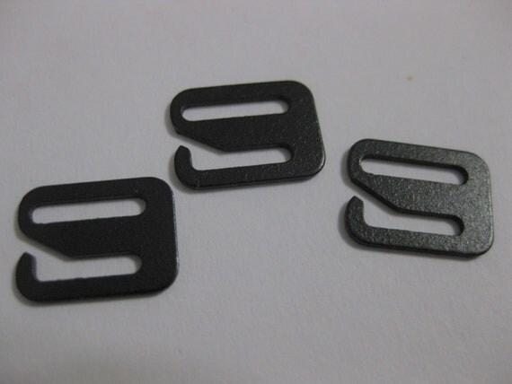 Swimsuit Bra Hooks 3/8 Black Metal Bra Hook