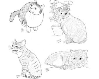 Cat Notecards (4)