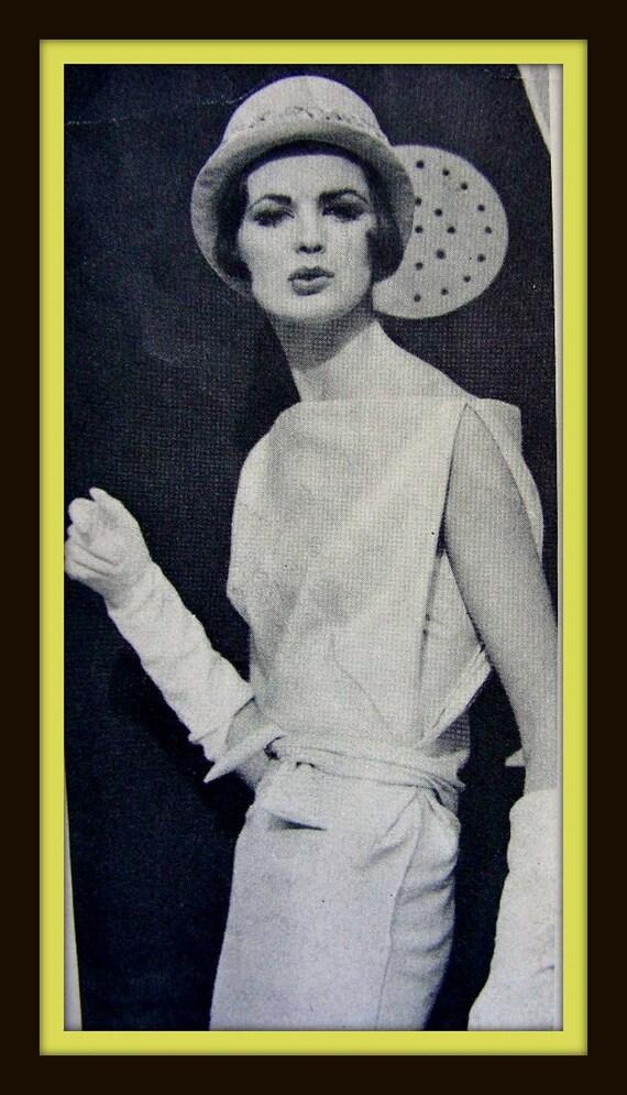 Vintage VOGUE Paris Original Pattern 1072 - DRAPED SASH Evening Dress, Coat  - size 14