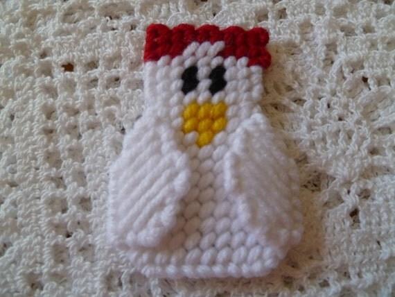 White Chicken Magnet