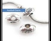 Football Charm - Fits European Style Bracelets