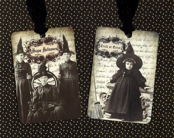 Halloween, Happy Halloween Tags, Witch, Little Witch, Party Favors, Trick or Treat