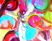 Large Abstract Painting - Original modern fine art  Mixed Media by Kim Bosco