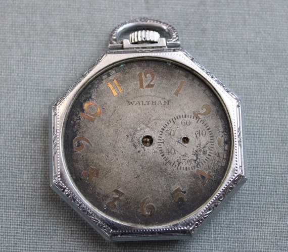 RESERVED for Mike / Antique Waltham Pocket Watch / Large Size / Parts or Repair