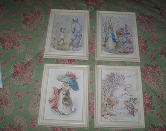 Peter Rabbit and Friends by Beatrix Potter 5 x 7  Framed Prints