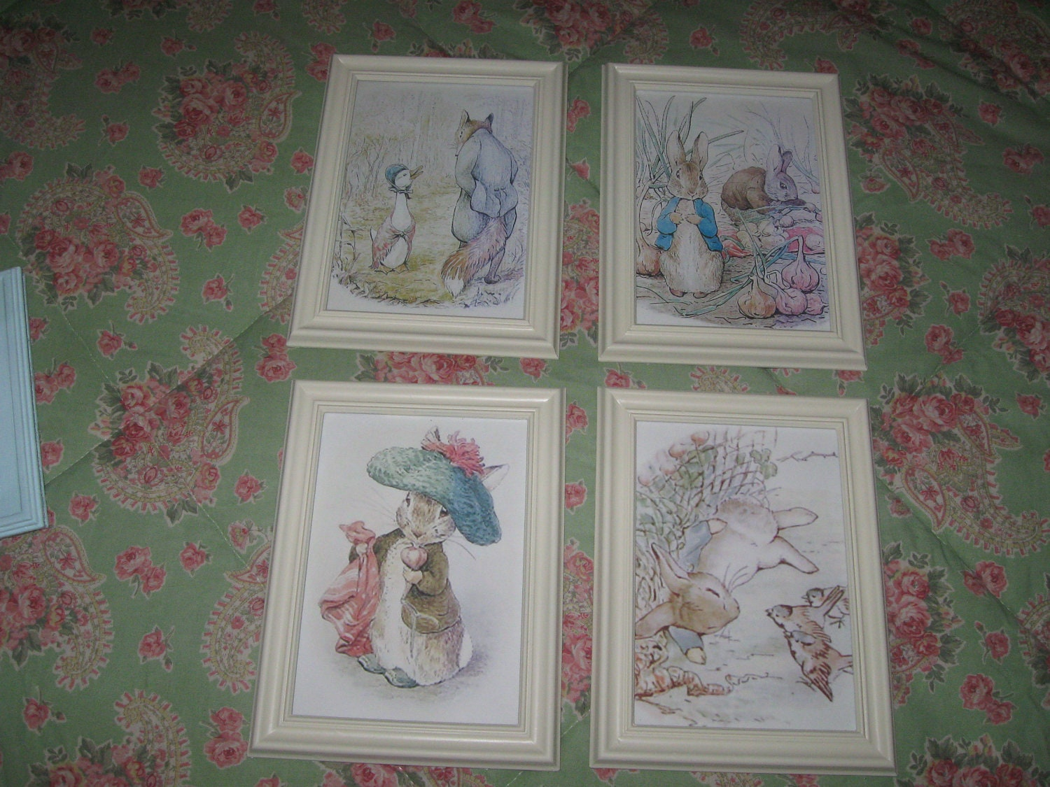 Peter Rabbit And Friends By Beatrix Potter 5 X 7 Framed