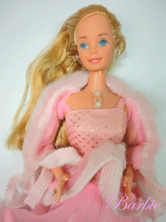 Vintage Superstar era Barbie Pink and Pretty doll with diamond jewelry lovely