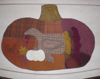 Wool Thanksgiving table mat