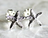 Tiny Dancer Starfish Handcrafted Post Earrings of Sterling Silver - Ready to Ship