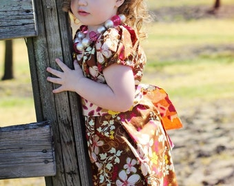 On SALE! Orchard Blooms, peasant dress (sash NOT included), size 6mos.-10 girls