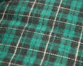 CUSTOM ORDER for Jill Williams Green/Black Flannel Plaid - 100% Cotton