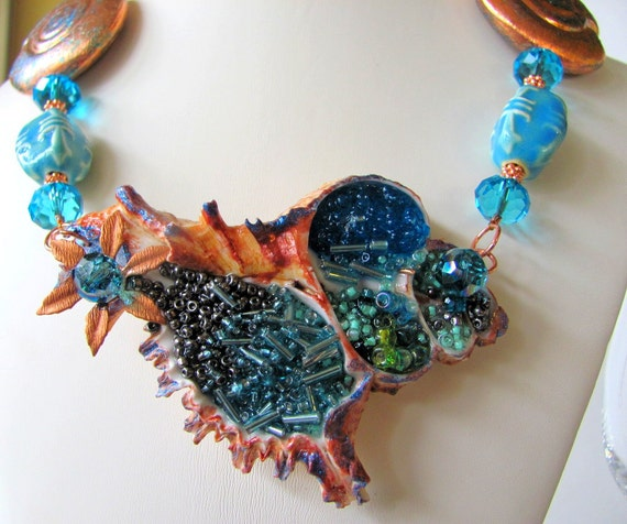 Amazing Filled Shell Necklace